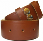38mm Brown Snap Fit Leather Belt